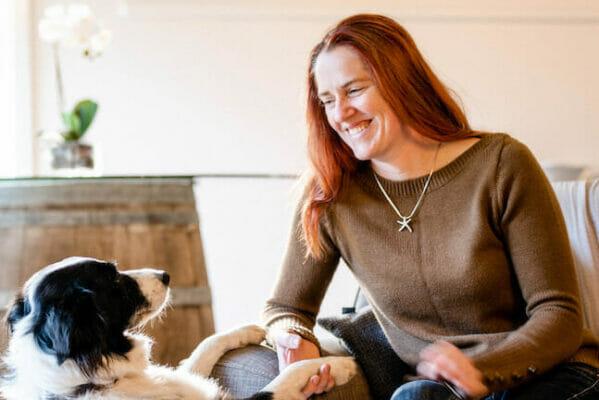 Courtney Treacher and dog